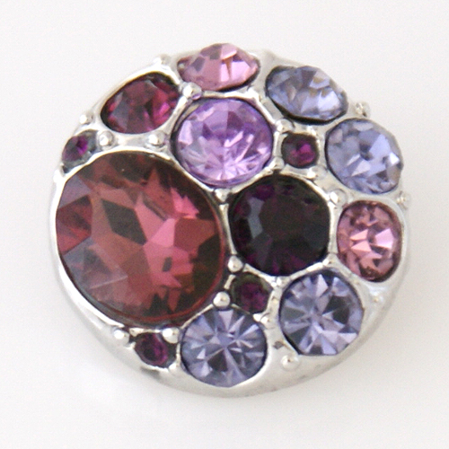 Snap Jewelry Rhinestone - Cluster - Multi Purple