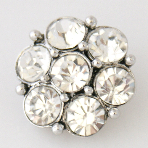 Snap Jewelry Rhinestone - Cluster - Clear