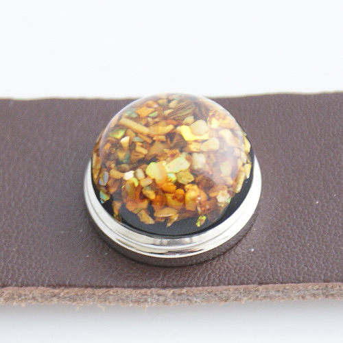 Snap Jewelry Resin - Specks - Gold