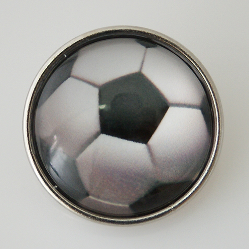 Snap Jewelry Glass - Sports Soccer Ball