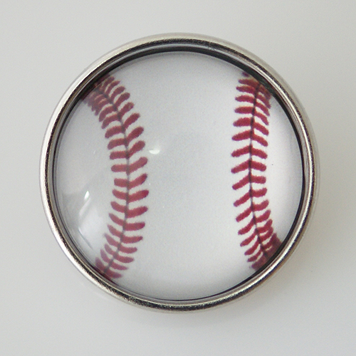 Snap Jewelry Glass - Sports Baseball