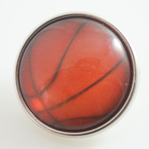Snap Jewelry Glass - Sports Basketball