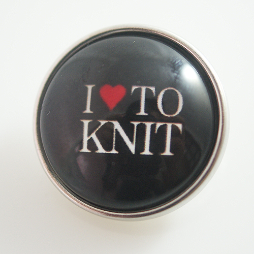 Snap Jewelry Glass - Love To Knit