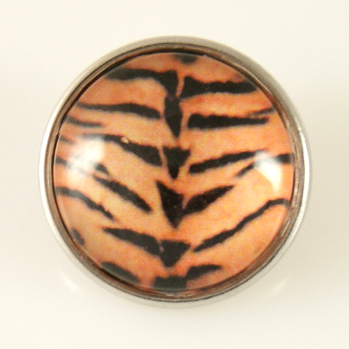Snap Jewelry Photo - Animal Print - Tiger