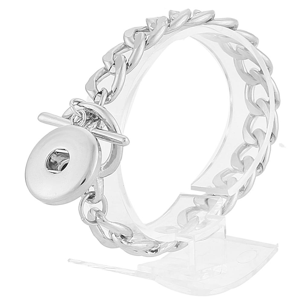 Snap Jewelry Toggle Bracelet Chain Link - Single
