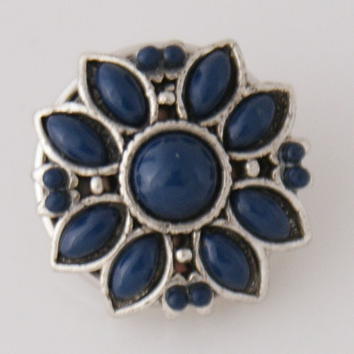 Snap Jewelry Stone - Flower - Dark Blue