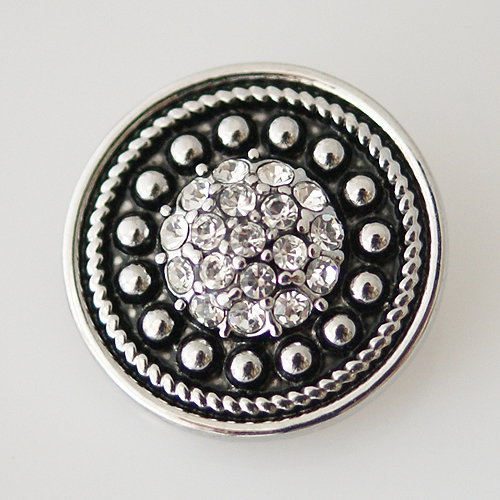 Snap Jewelry Rhinestone - Circle Dots Dome Small - Clear
