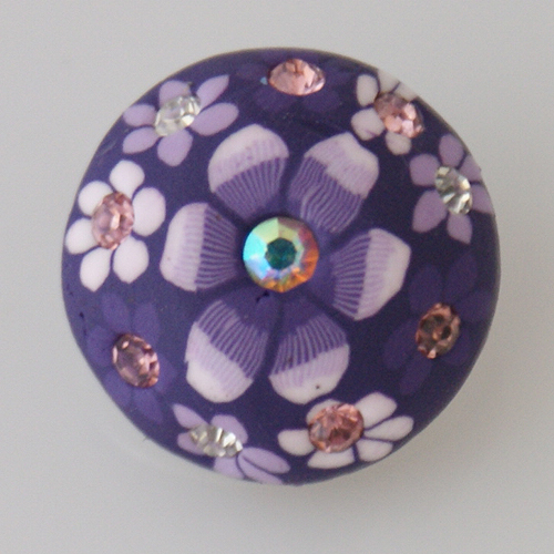 Snap Jewelry Clay - Flower White & Purple