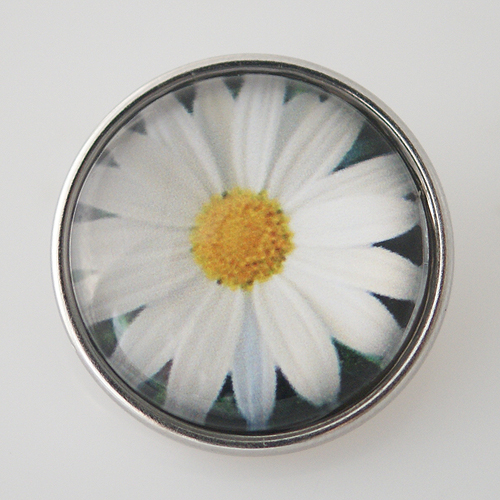 Snap Jewelry Glass - Flower Daisy