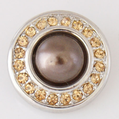 Snap Jewelry Pearl - Design - Amber Crystals