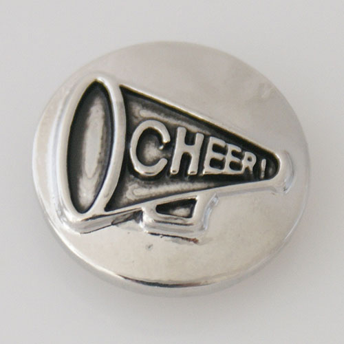 Snap Jewelry Metal - Silver Sports - Cheer Cheerleader