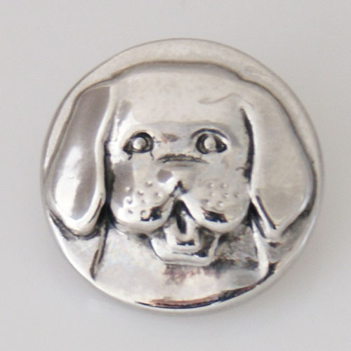 Snap Jewelry Metal - Silver Design - Dog