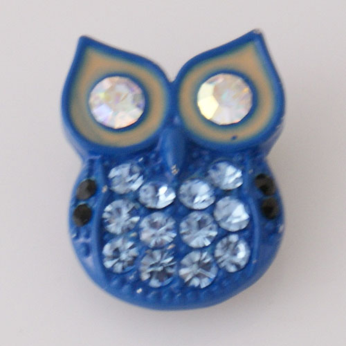 Snap Jewelry Resin - Owl Blue