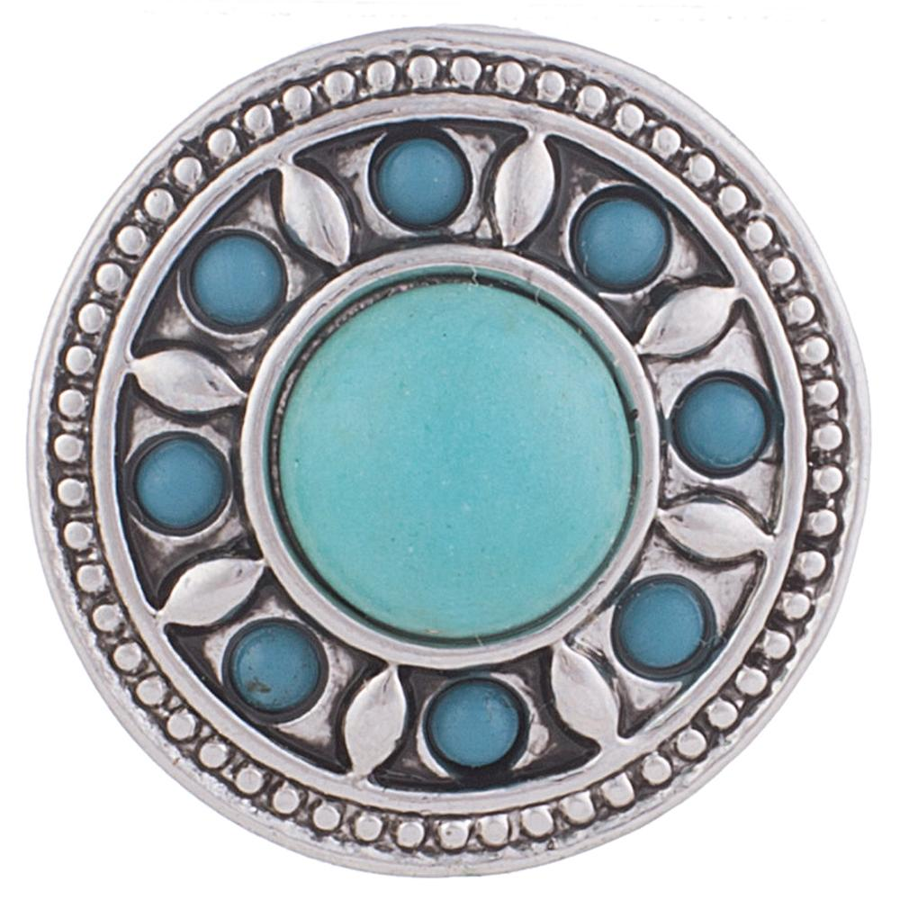 Snap Jewelry Gemstones - Turquoise & Stone