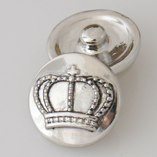 Snap Jewelry Metal - Silver Crown