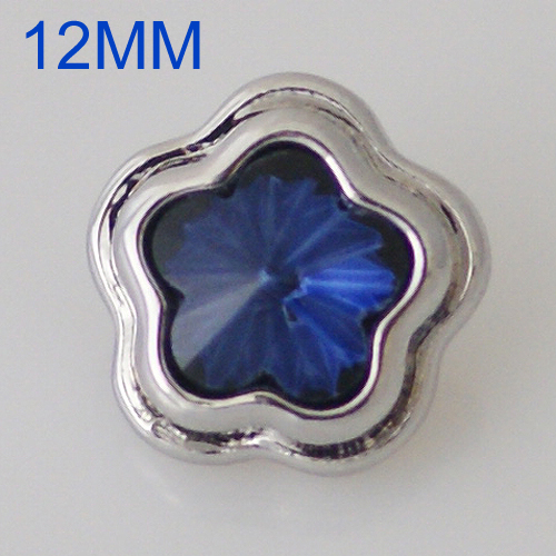 Mini 12mm Snap Jewelry Star Dark Blue