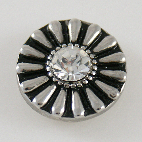 Snap Jewelry Rhinestone Daisy Flower - Clear