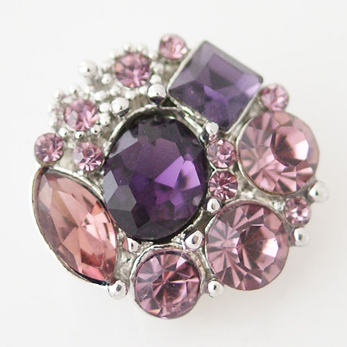 Snap Jewelry Rhinestone - Multi Cluster - Purple shades
