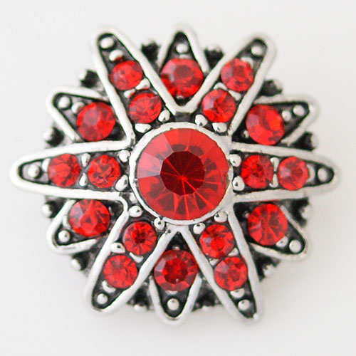 Snap Jewelry Rhinestone - Faceted Star - Red
