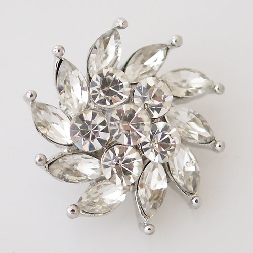 Snap Jewelry Rhinestone - Faceted Pinwheel - Clear