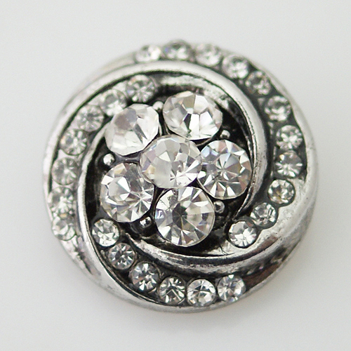 Snap Jewelry Rhinestone - Swirl - Clear