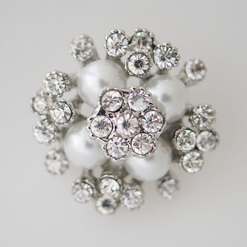 Snap Jewelry Pearl Cluster - Clear