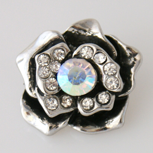 Snap Jewelry Rhinestone - Flower - AB