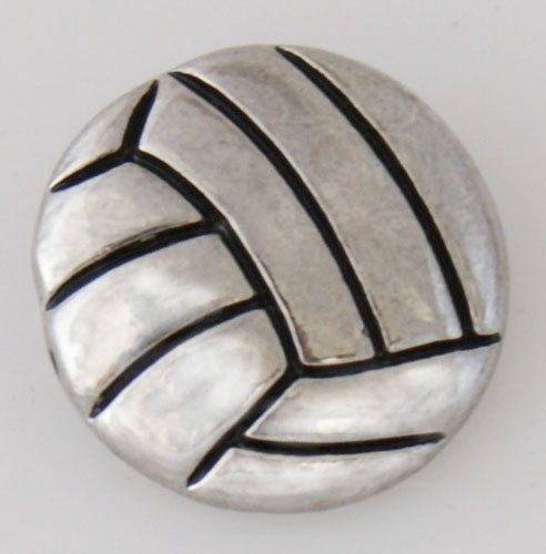 Snap Jewelry Metal - Sports - Volleyball