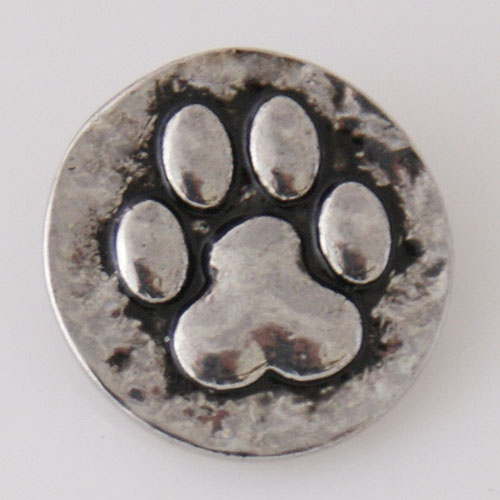 Snap Jewelry Metal - Dog Paw
