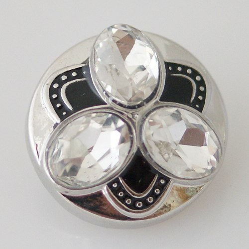 Snap Jewelry Rhinestone - Design - Black & Clear