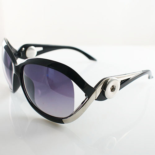 Snap Jewelry Sunglasses - Silver & Black