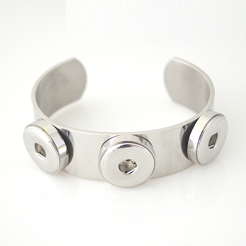 Snap Jewelry Bangle Stainless Steel - Triple