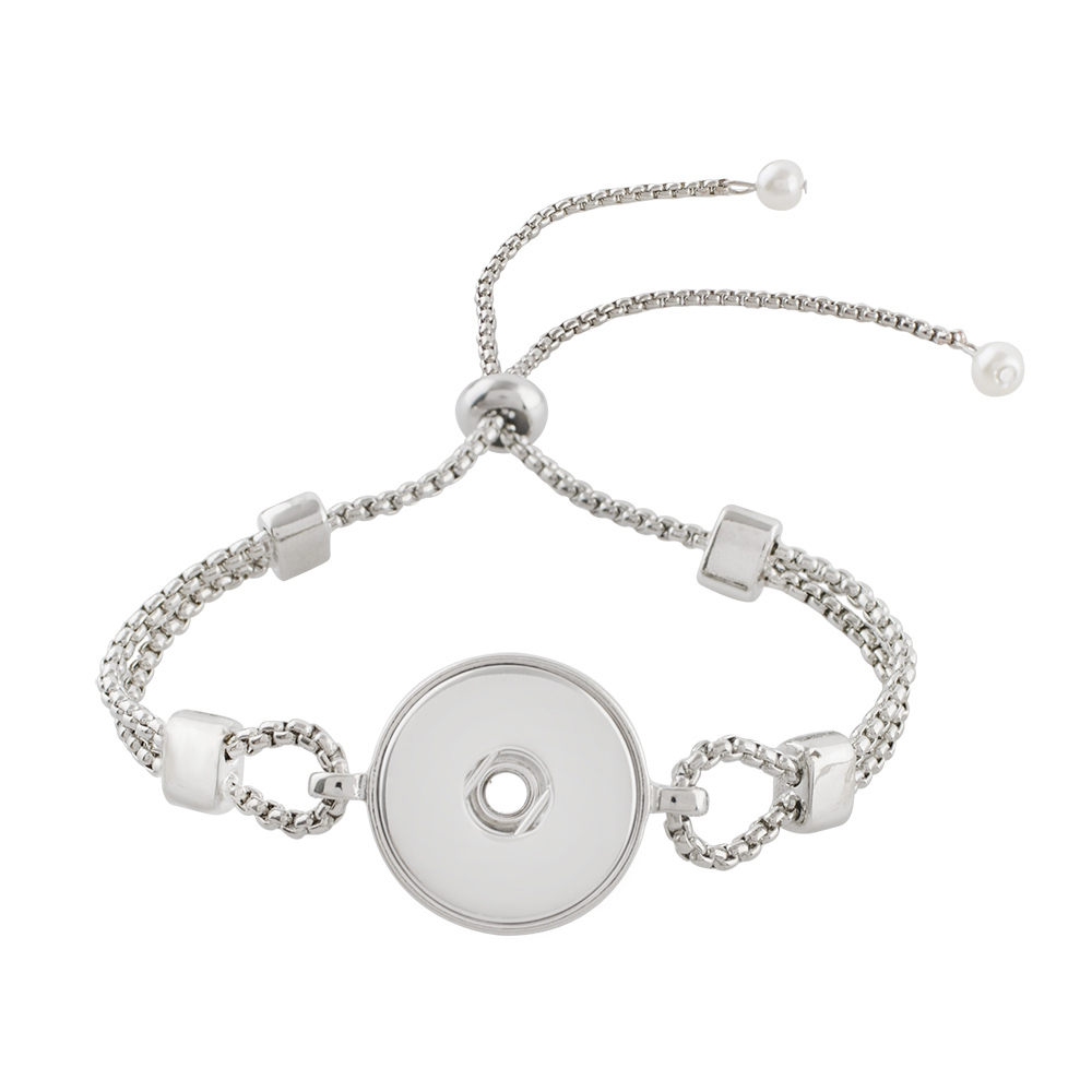 Snap Jewelry Adjustable Slider Bracelet - One Size Fits All