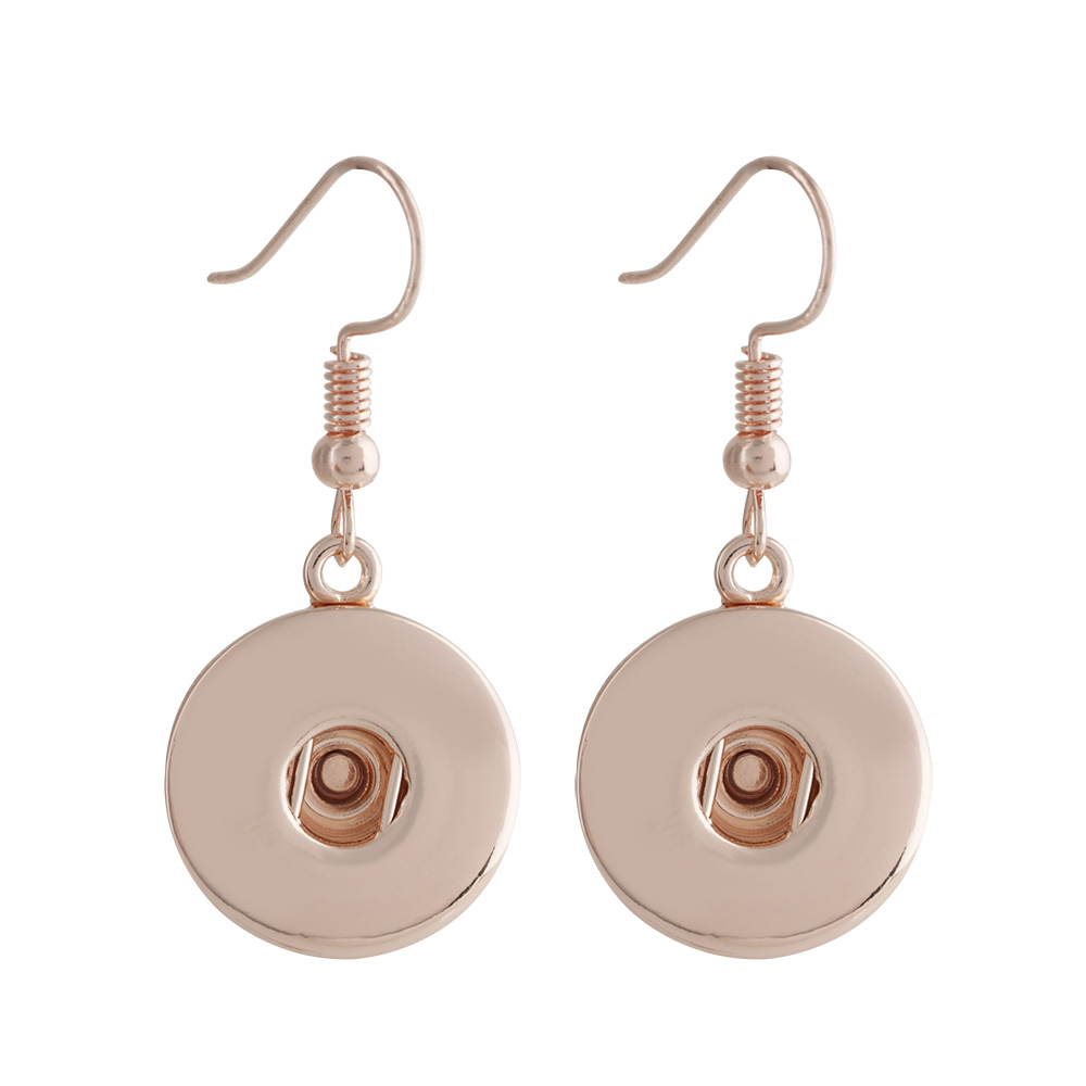 Snap Jewelry French Hook Earrings - Rose Gold