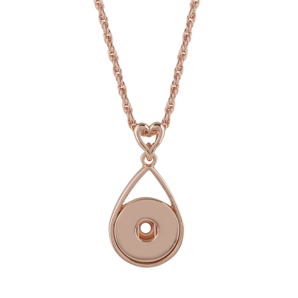 Snap Jewelry Necklace & Pendant - Rose Gold-Tone Holds 1 Snap