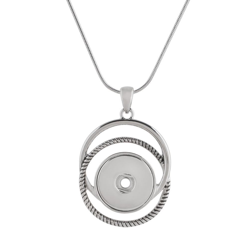 Snap Jewelry Pendant & Chain - Geometric Circles
