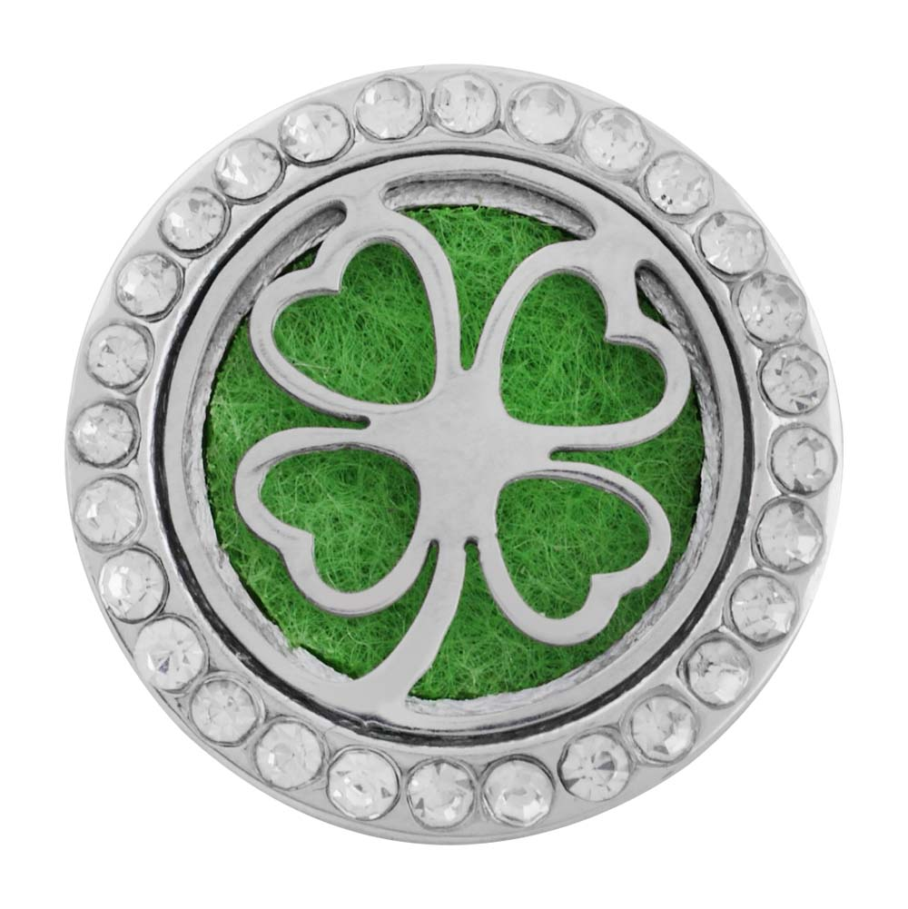 Snap Aromatherapy & Essential Oil Diffuser Perfume Locket Clover