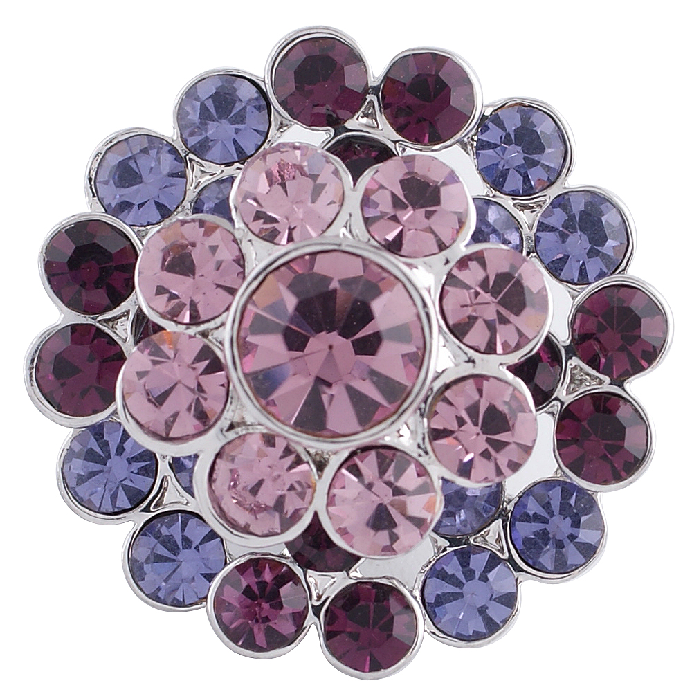 Snap Jewelry Rhinestone - Cluster Shades of Purple