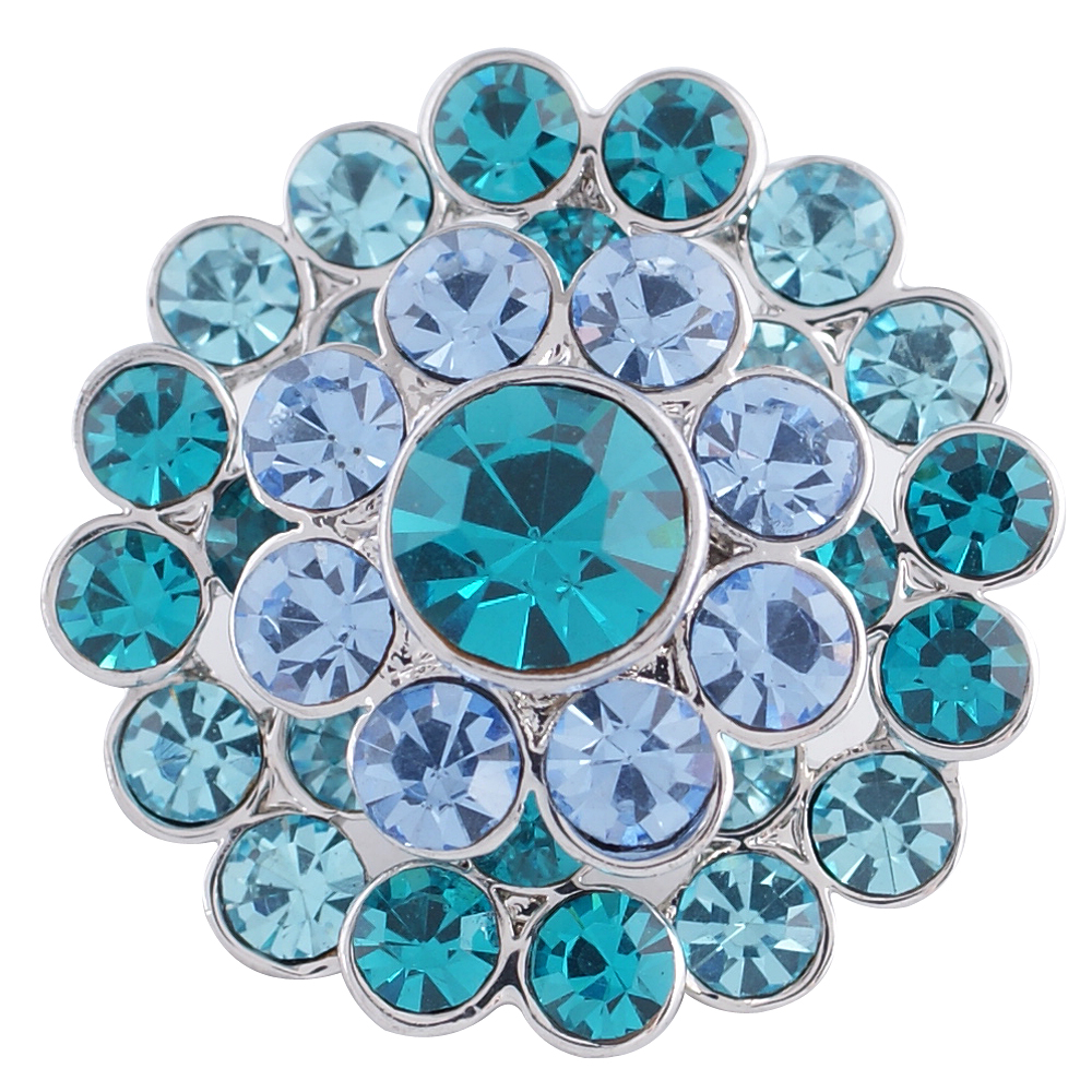 Snap Jewelry Rhinestone - Cluster Shades of Blue