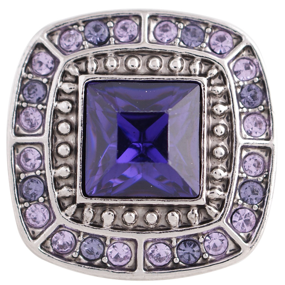 Snap Jewelry Rhinestone - Square Cut Shades of Purple