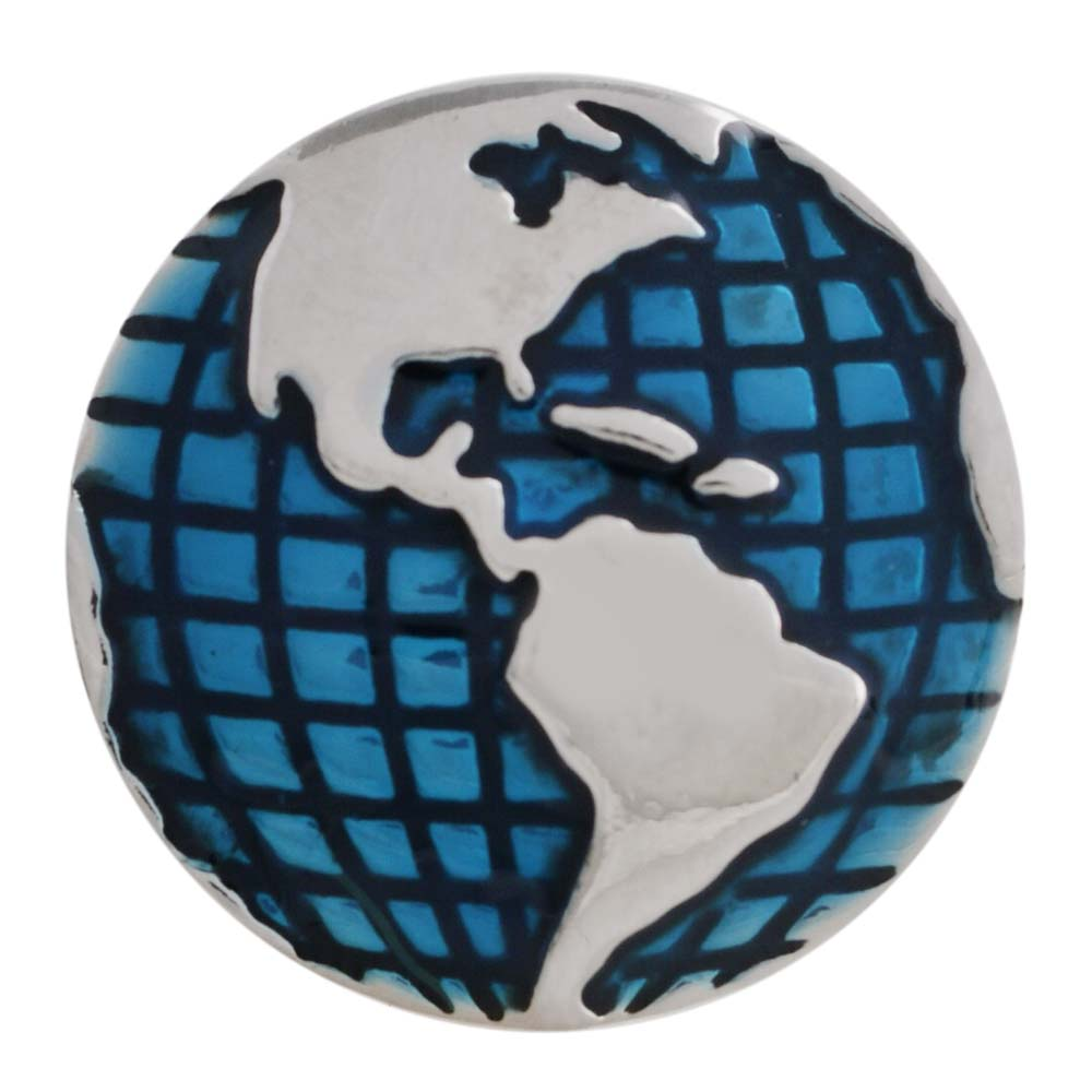 "Snap Jewelry Enamel - Earth ""Western Hemisphere"""