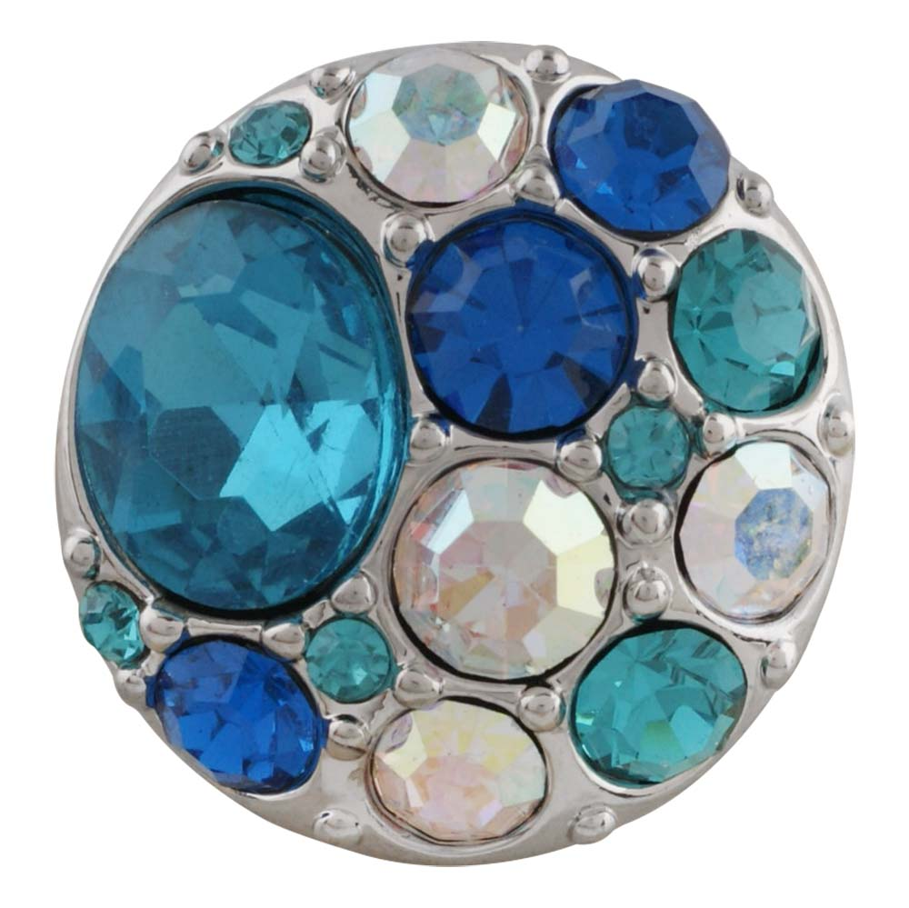 Snap Jewelry Rhinestone - Cluster - Multi Blue