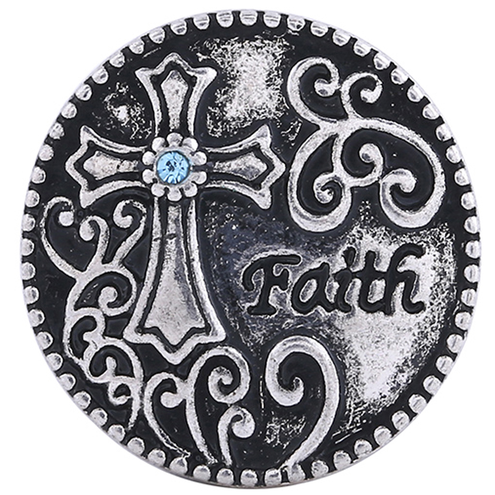 Snap Jewelry Metal - Faith Blue