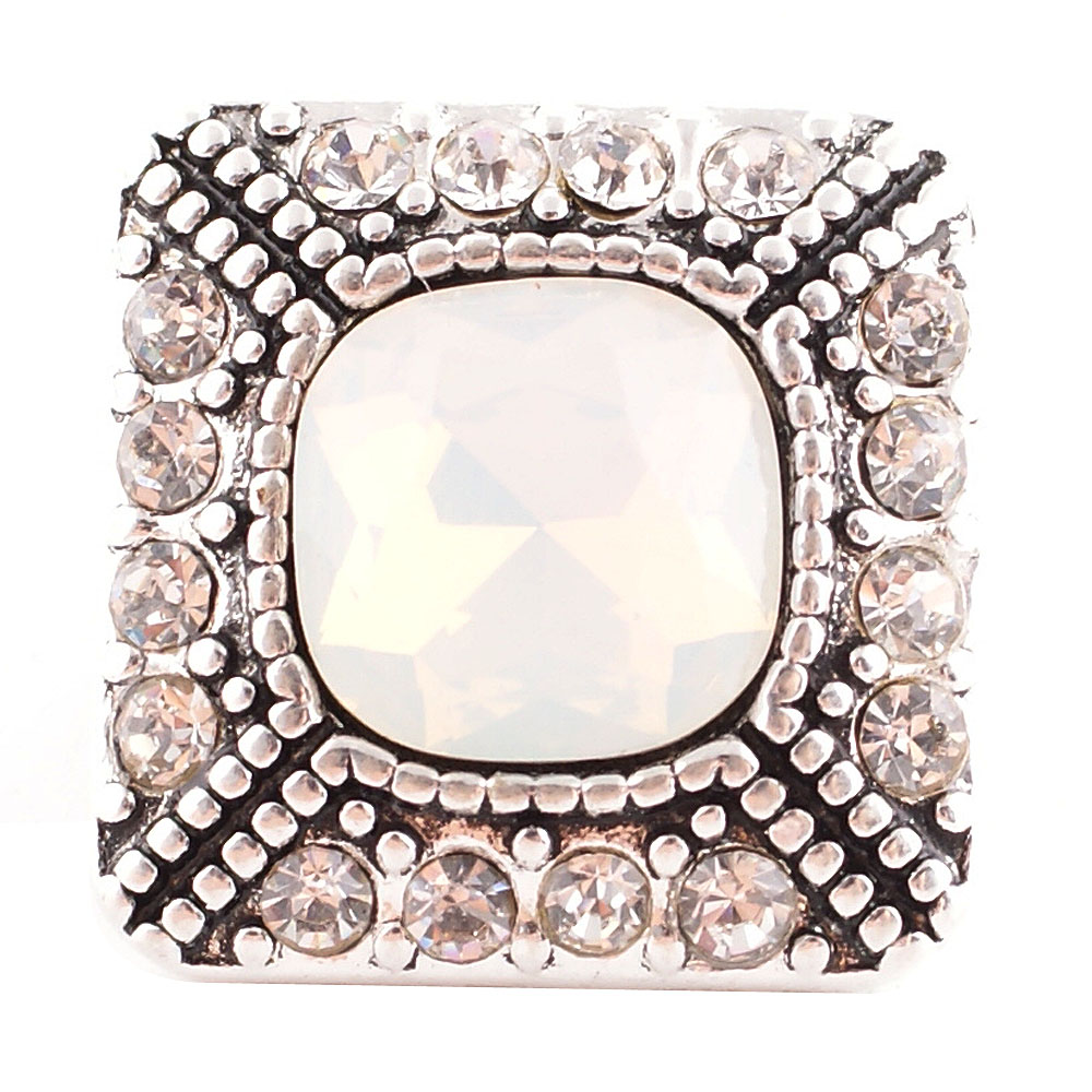 Snap Jewelry Rhinestone - Faceted Designer Square Clear AB