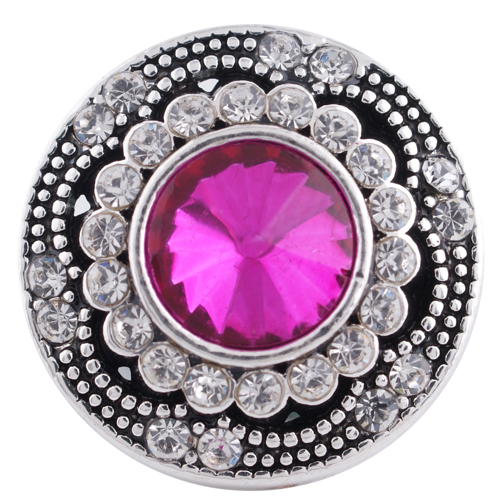 Snap Jewelry Rhinestone - Antique Designer Pink Fuscia