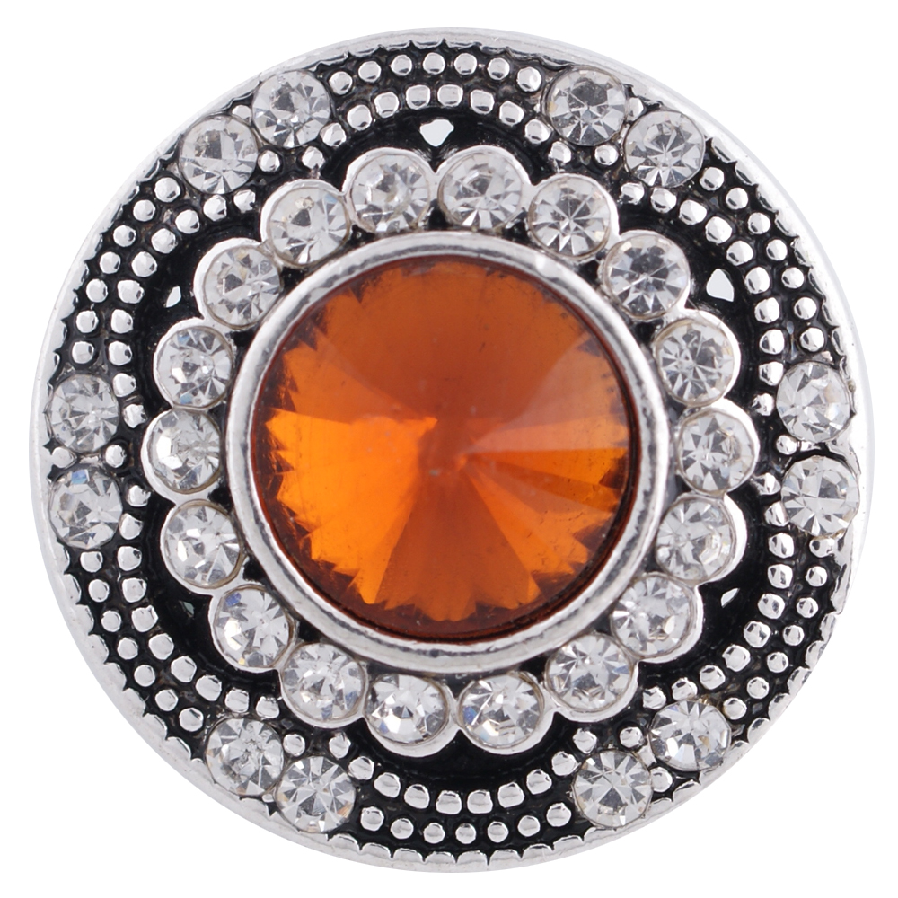 Snap Jewelry Rhinestone - Antique Designer Amber Brown