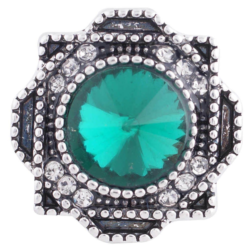 Snap Jewelry Rhinestone - Antique Halo Green