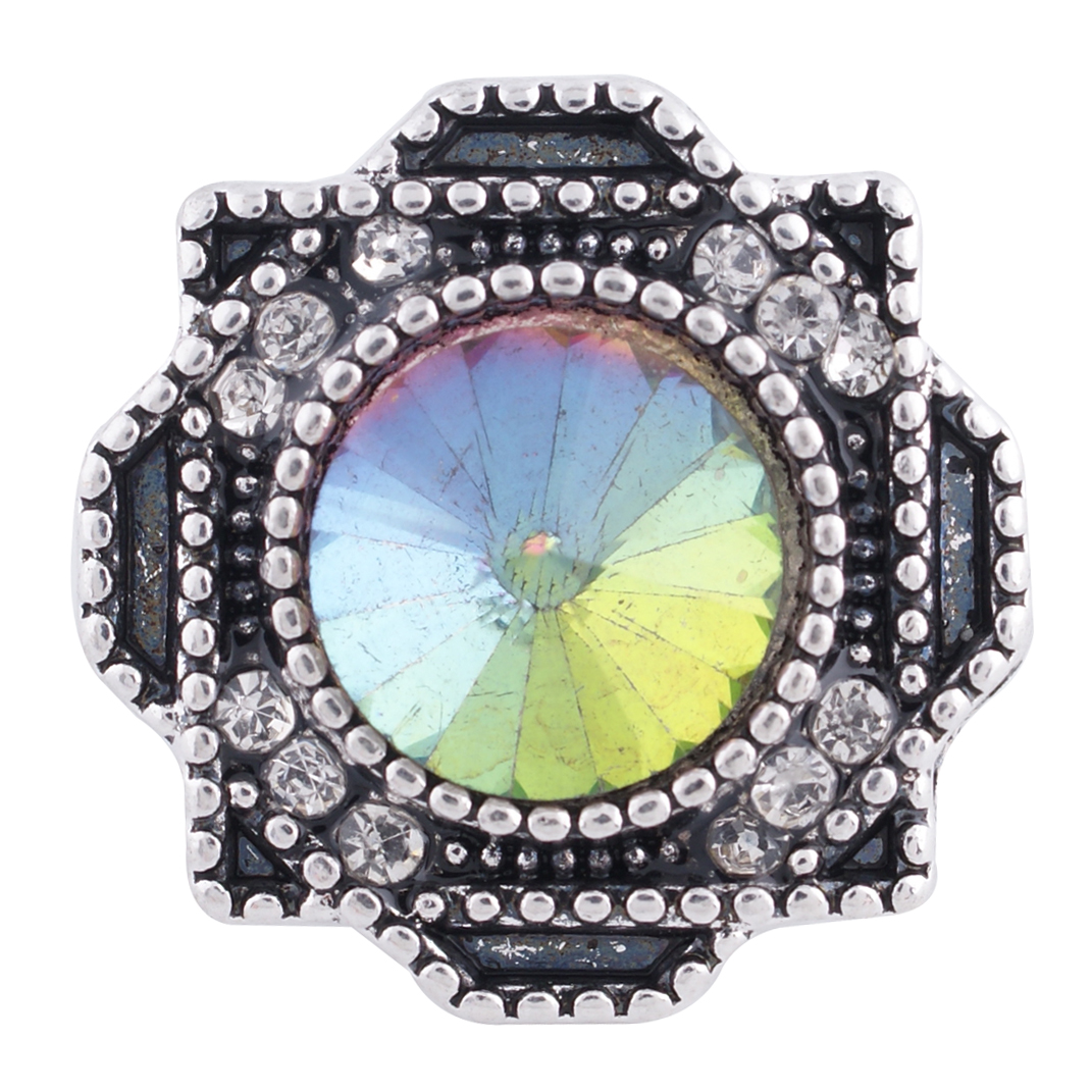 Snap Jewelry Rhinestone - Antique Halo Mystic Topaz