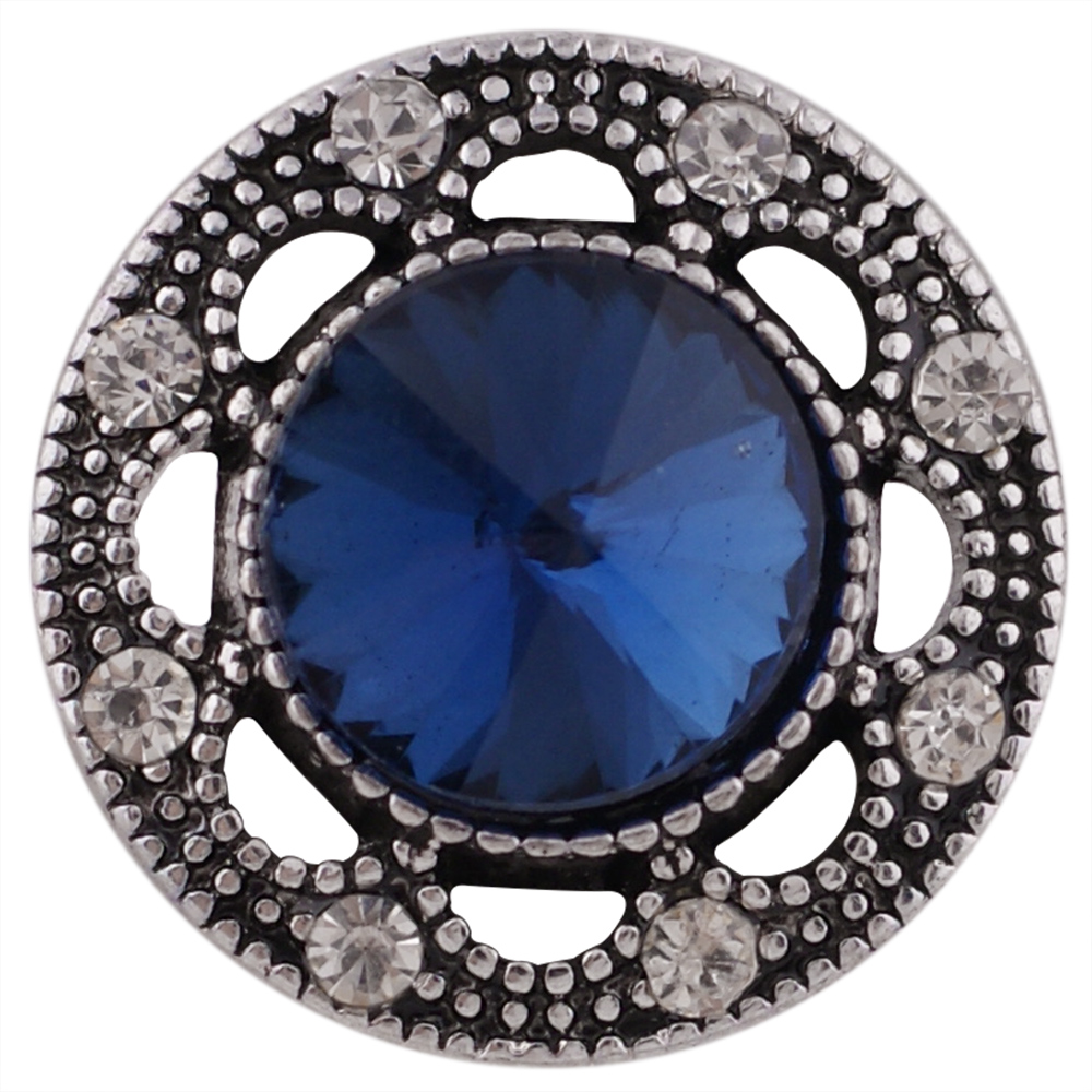 Snap Jewelry Rhinestone - Antique Dark Blue