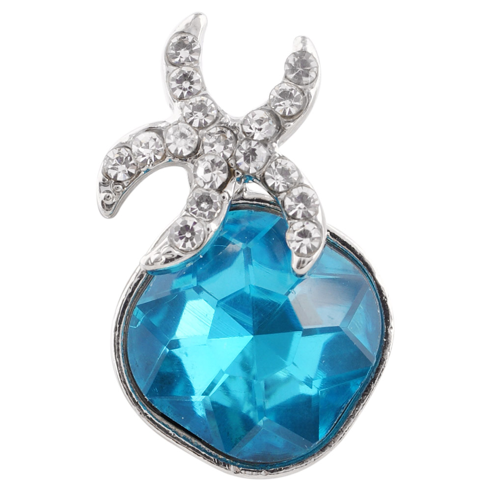 Snap Jewelry Rhinestone - Starfish & Blue Gem